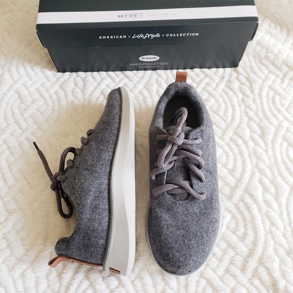 e78100b2a06 DR. SCHOLL S 7.5 Grey Wool Freestep Light Sneakers